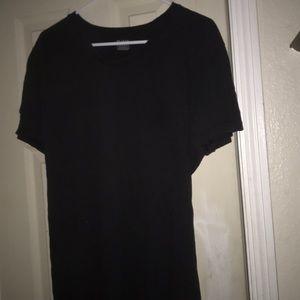 Women's 42/44 Alfani combed cotton black shirt